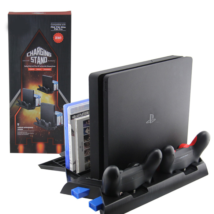 Vertikální nabíjecí stojan s chlazením PS4 / Slim / Pro