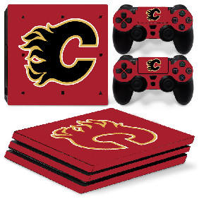 PS4 Pro Polep Skin NHL - Calgary Flames