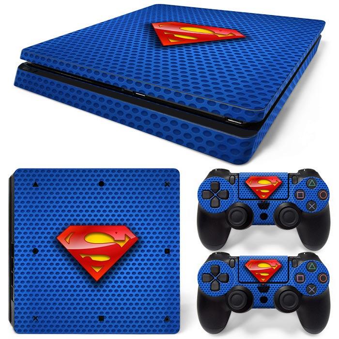 PS4 Slim Polep Skin Superman