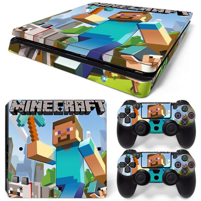 PS4 Slim Polep Skin Minecraft