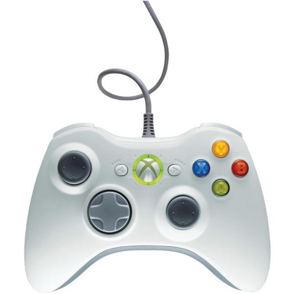 Originální Microsoft Wired Controller White (Xbox 360)