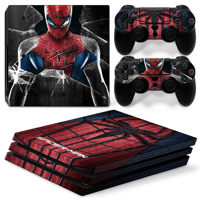 PS4 Pro Polep Skin Spiderman
