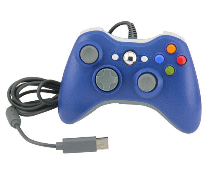 Xbox 360 Wired Controller for Windows Barva: modrý