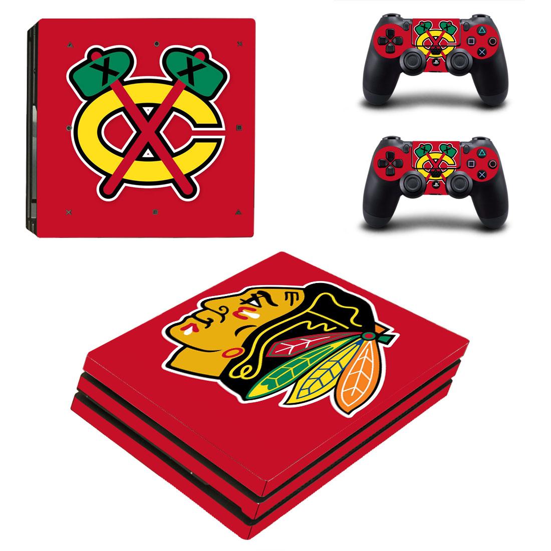 PS4 Pro Polep Skin NHL - Chicago Blackhawks