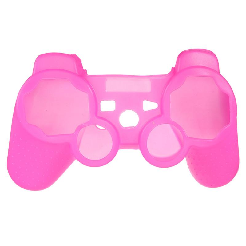 Silikonový obal na ovladač (PS3) Barva: sytě růžový