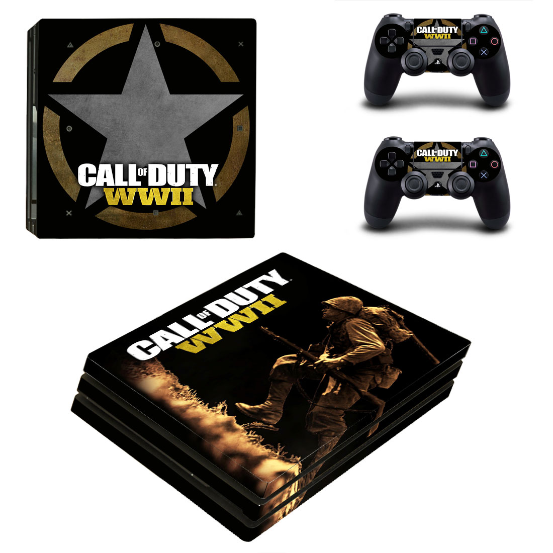 PS4 Pro Polep Skin Call of Duty WWII