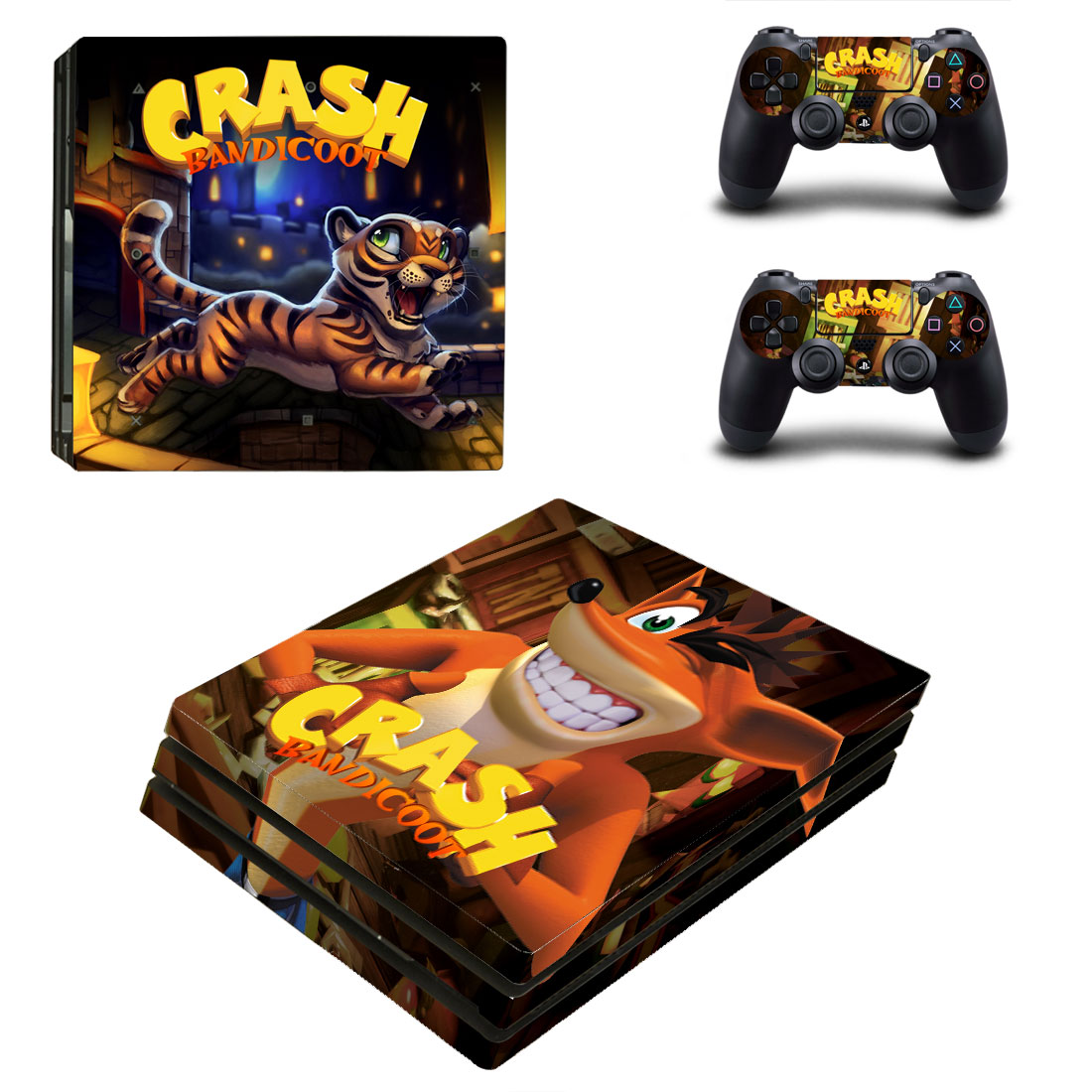 PS4 Pro Polep Skin Crash Bandicoot