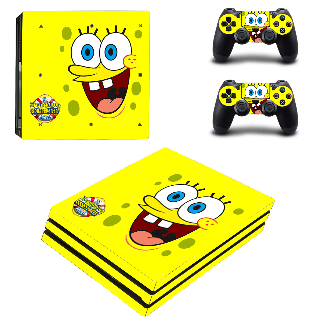 PS4 Pro Polep Skin Spongebob