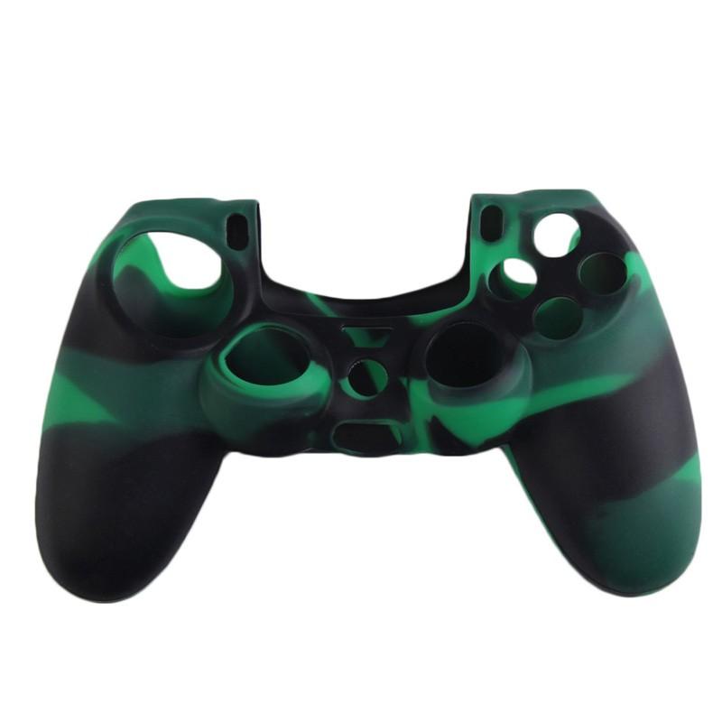 Silikonový obal na ovladač (PS4) Barva: kamufláž zelený