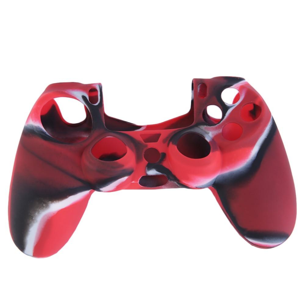 Silikonový obal na ovladač (PS4) Barva: kamufláž červený