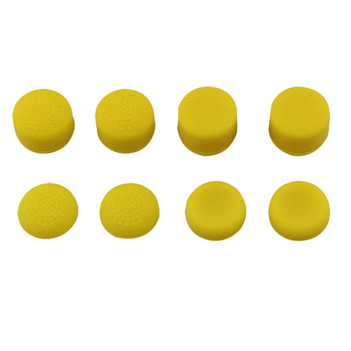 Kloboučky na analogové páčky sada 8ks Barva: žlutá