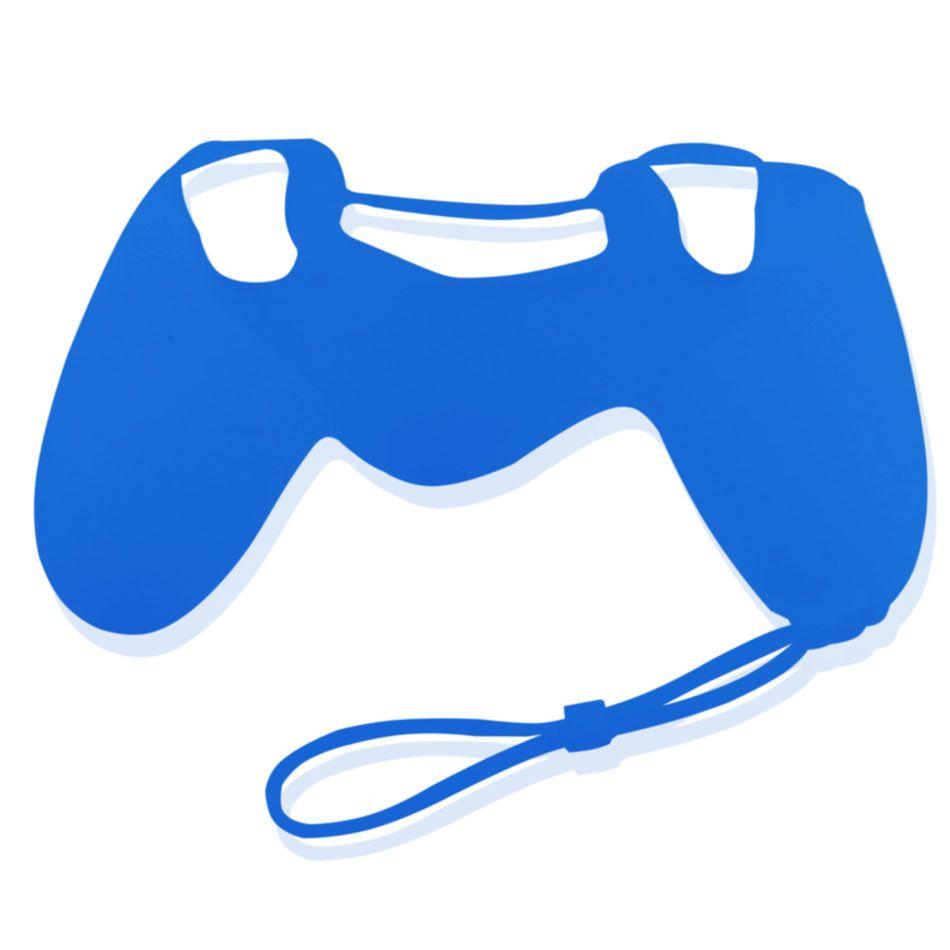 PS4 silikonový obal na ovladač s poutkem Barva: modrý