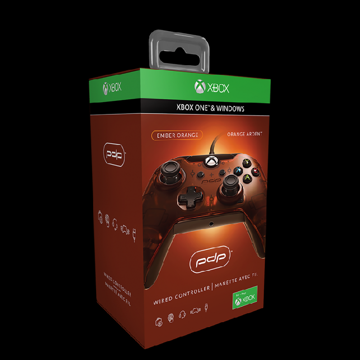 PDP Wired Controller pro Xbox One Barva: Ember Orange