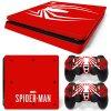 PS4 Slim Polep Skin Spider-Man