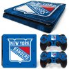 PS4 Slim Polep Skin New York Rangers