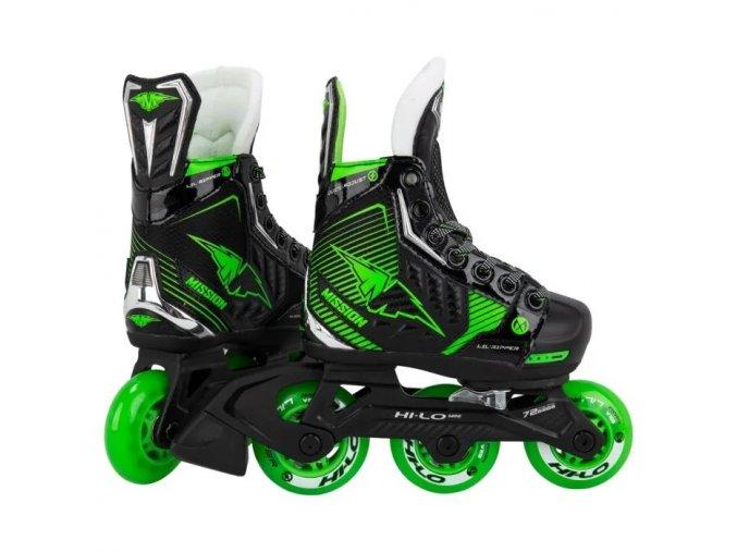 mission roller hockey skates lil ripper adjustable youth
