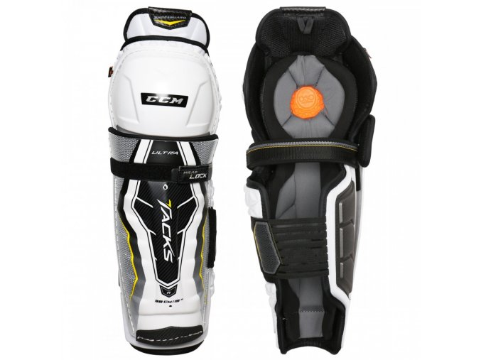 ccm hockey shin guard ultra tacks sr