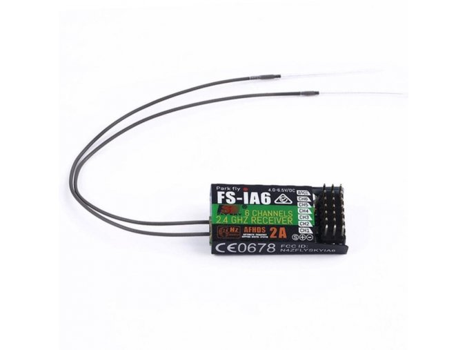 FS IA6 Flysky iA6 2.4G 6 CH RC Receiver with Double Antenna Compatible i4 i6 i10 01