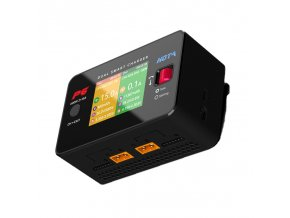 HOTA P6 DC600W 15AX2 DC Dual Channel Smart Type C Output Charger Discharger for Lipo NiMH