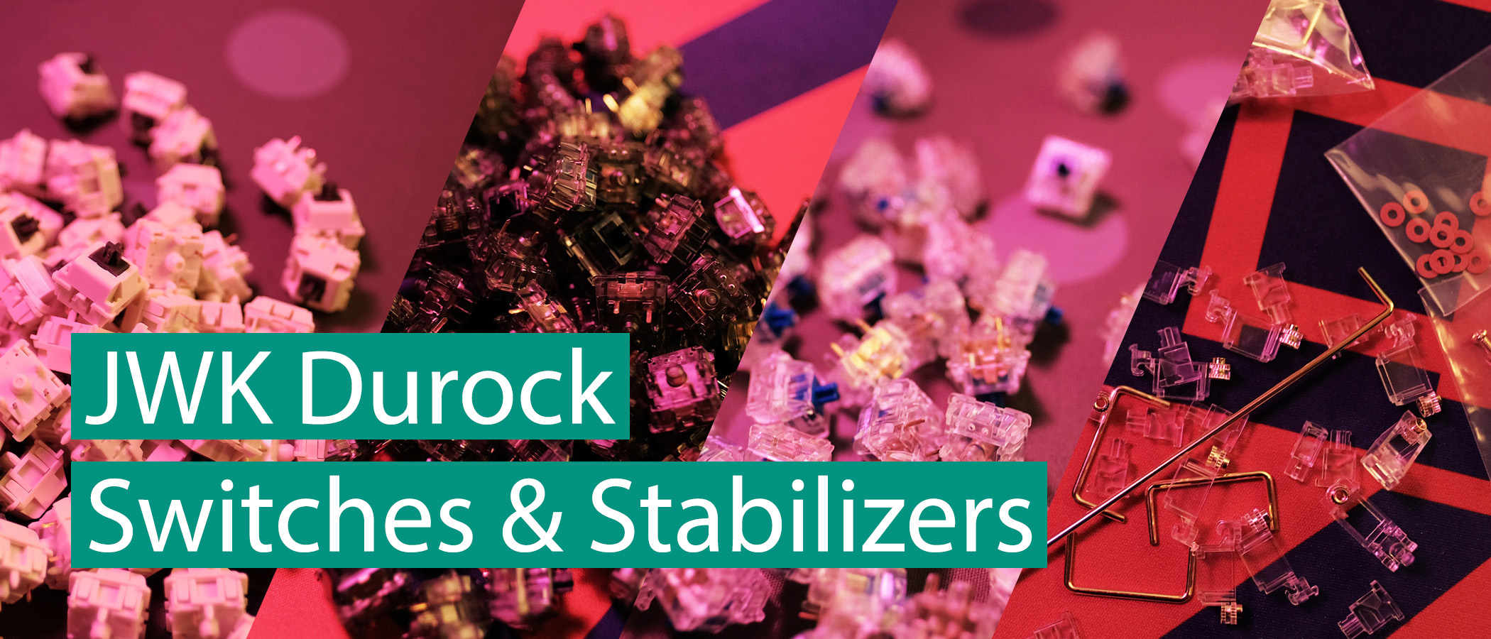 Shop JWK Durock Mechanical Keyboard Switches and Stabilizers