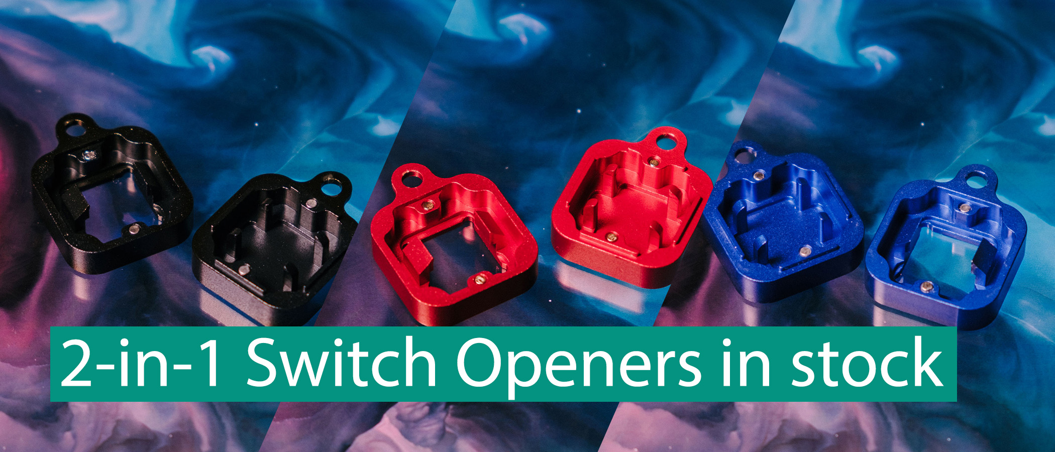 2-in-1 Metal Switch Openers Now Available In Black, Red, Blue