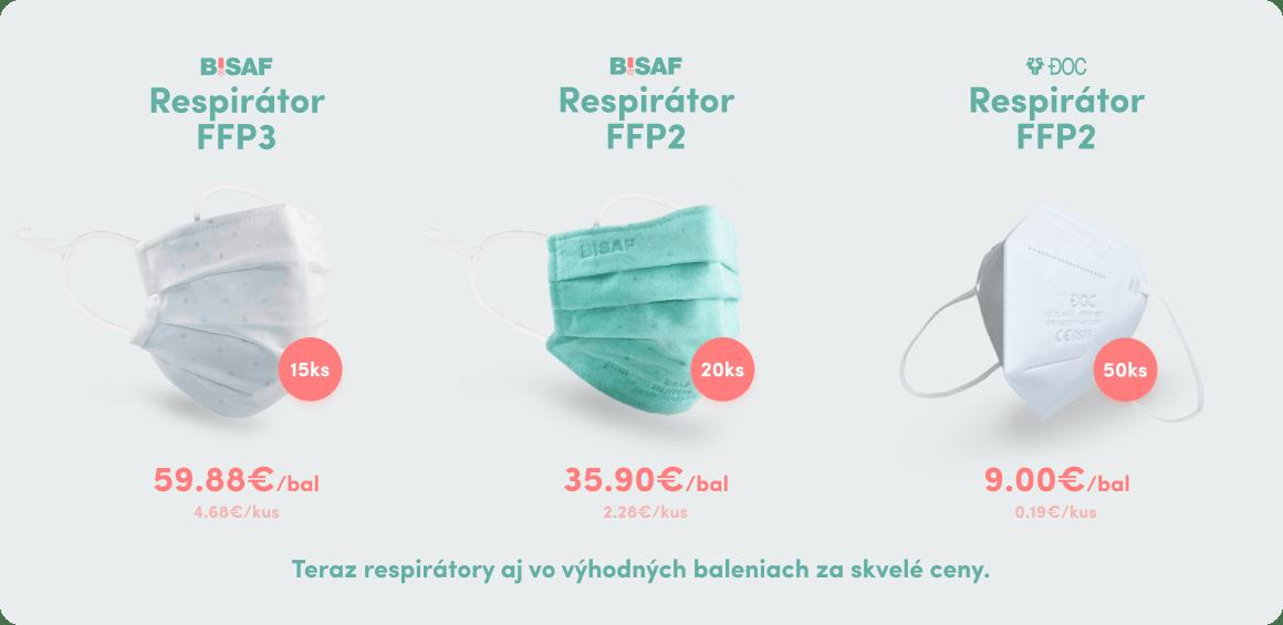 Výhodné balenie respirátorov