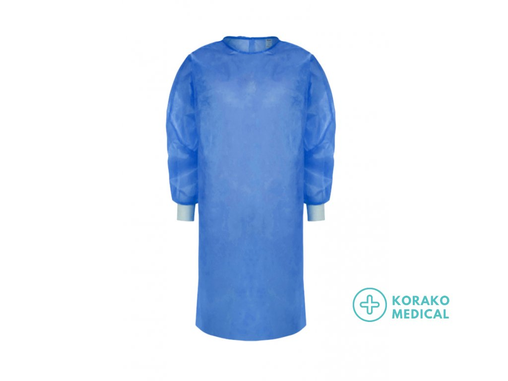 Disposable PP Blue Patient Isolation Gown Visitor Protective Gown Suit