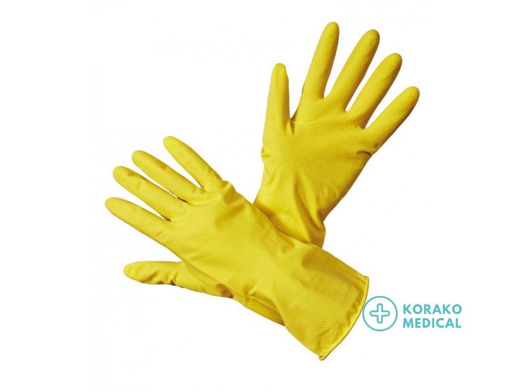 Latexové rukavice veľkosť 7 (S/M)