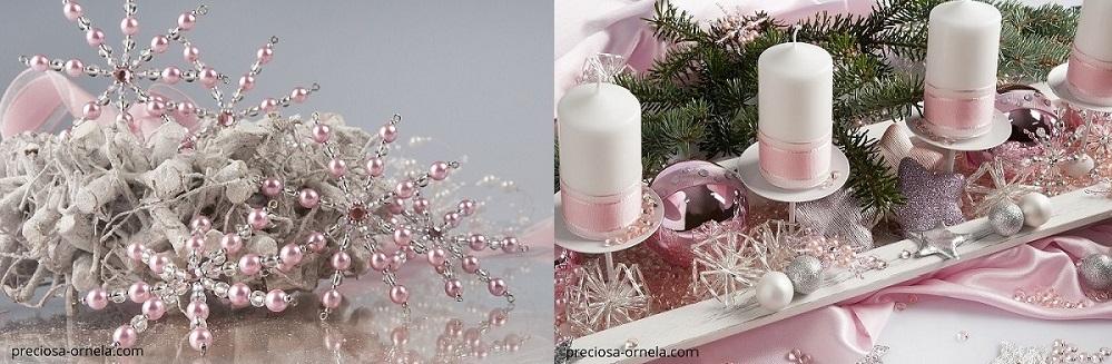 PRECIOSA - kombinace voskovaných perliček a rokajlových dlouhých tyček