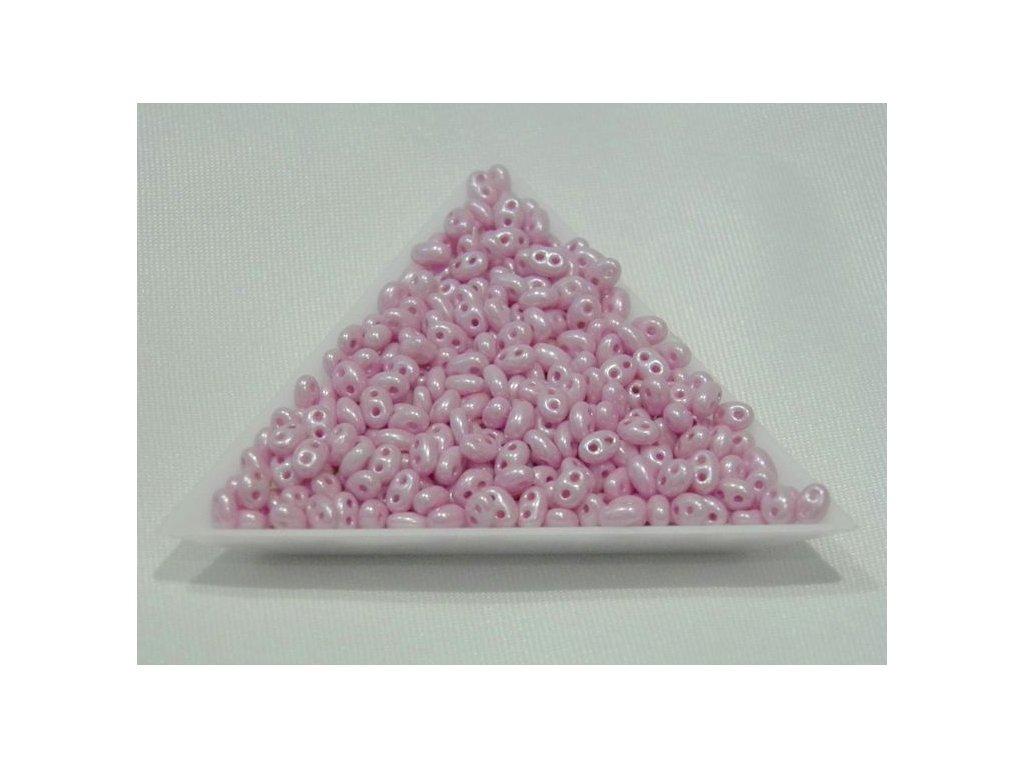 Korálky PRECIOSA Twin™ -  46326 lila vosk polomat