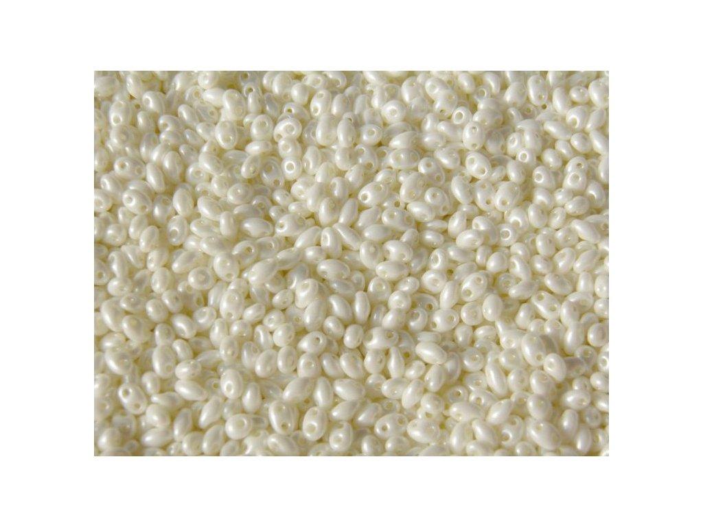 Korálky PRECIOSA Twin - 46381 krémový vosk polomat