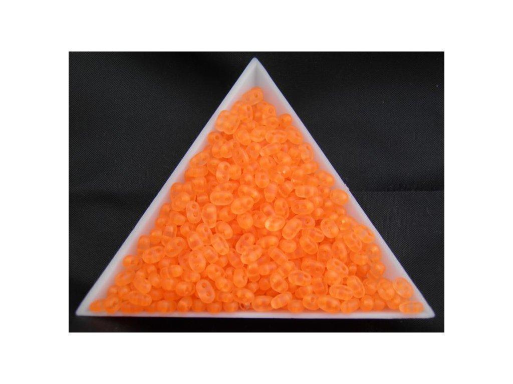 Korálky PRECIOSA Twin™ - oranžové neonové 38789