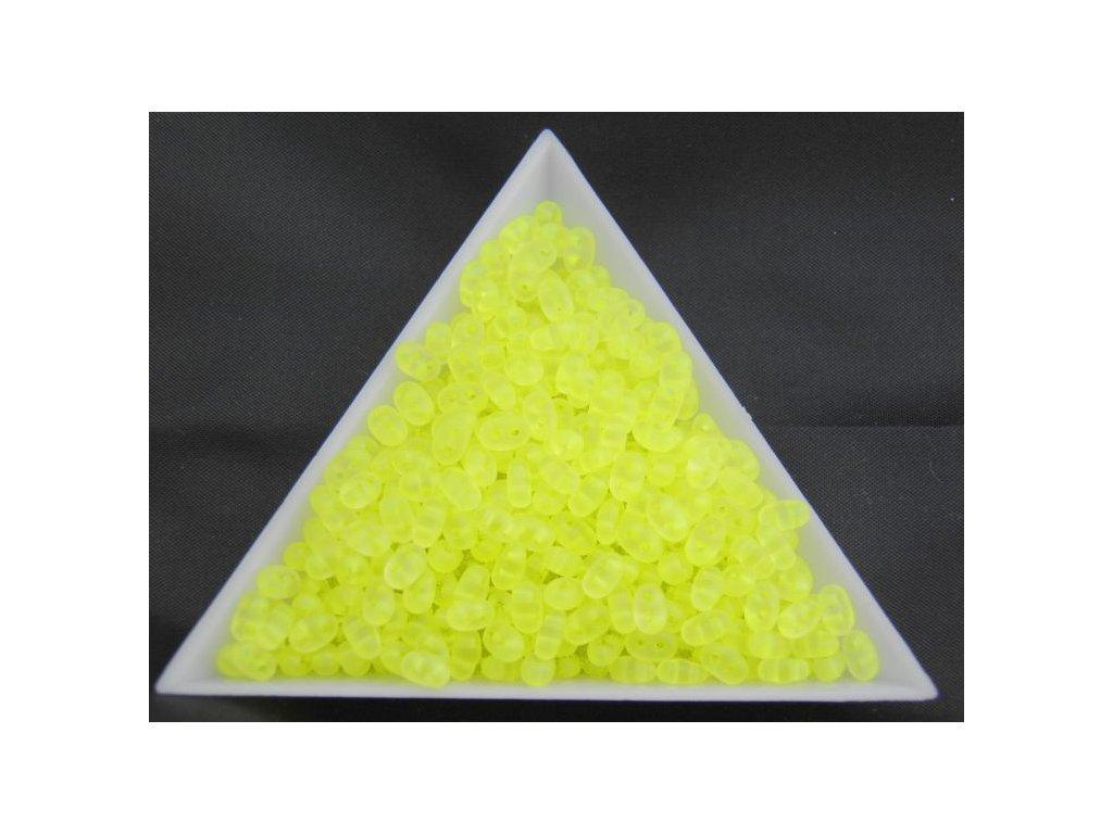 Korálky PRECIOSA Twin™ - žluté neonové 38786