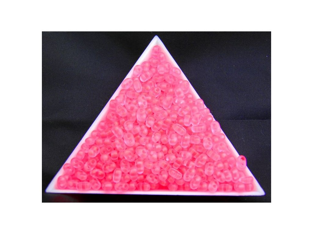 Korálky PRECIOSA Twin™ - růžové neonové 38777