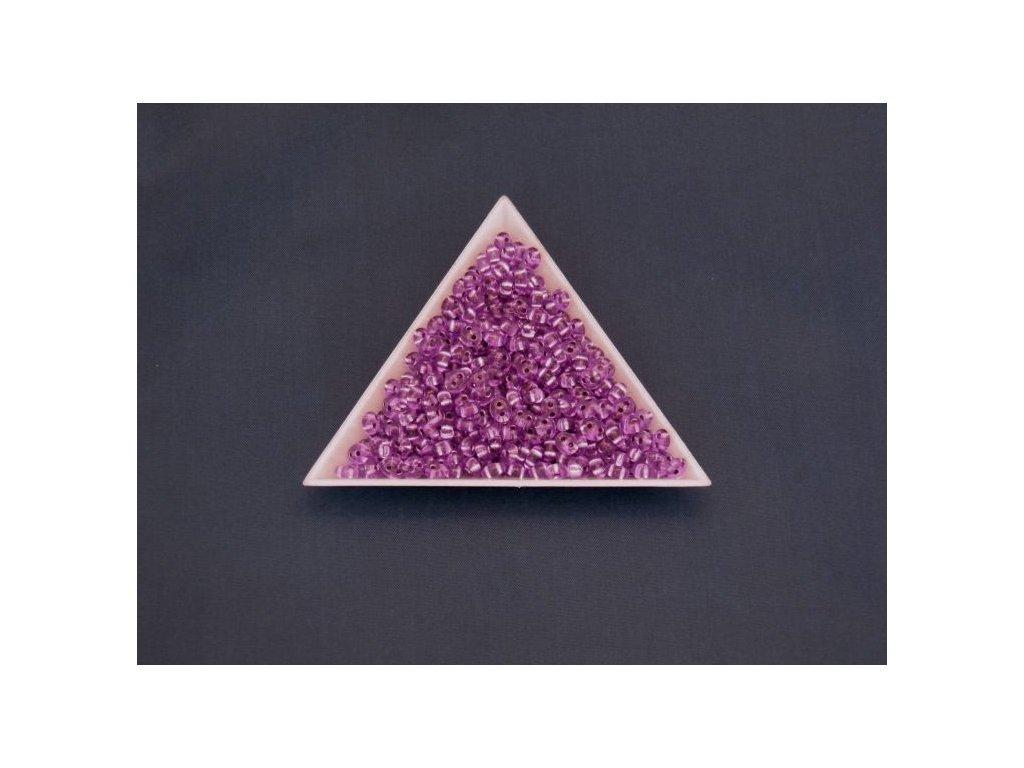 Korálky PRECIOSA Twin™ - fialově barvený krystal se stříbrným průtahem B2703