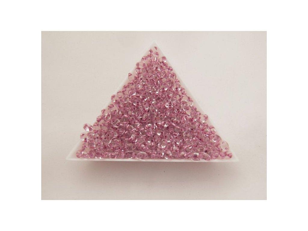 Korálky PRECIOSA Twin™ - krystal se starorůžovým průtahem 68298