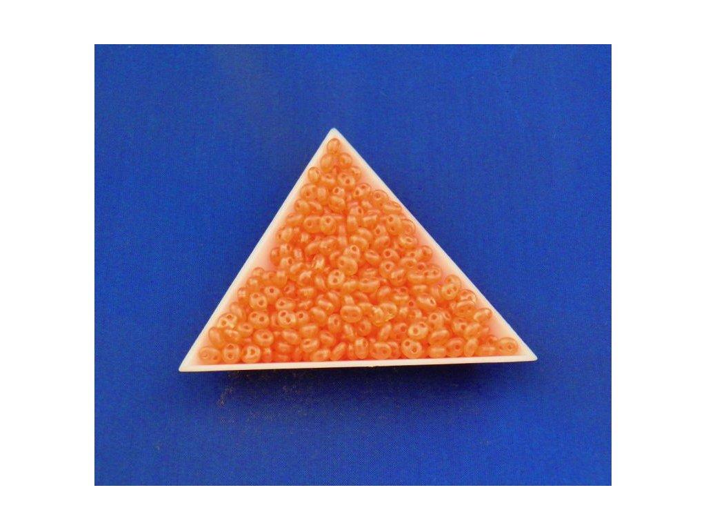 Korálky PRECIOSA Twin™ - matná oranžová