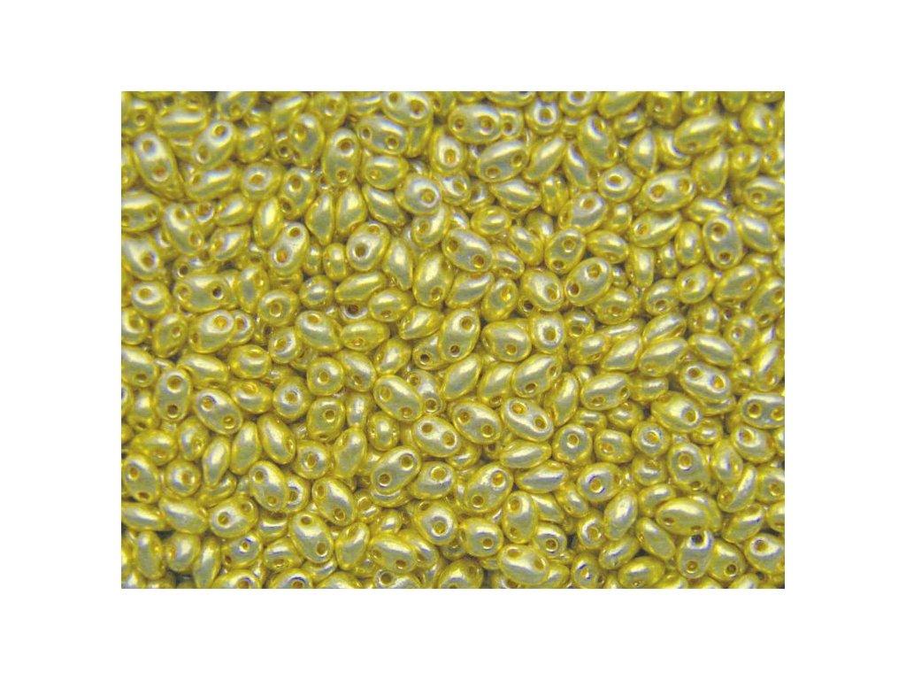Korálky PRECIOSA Twin™ - metalický zlatý 18181