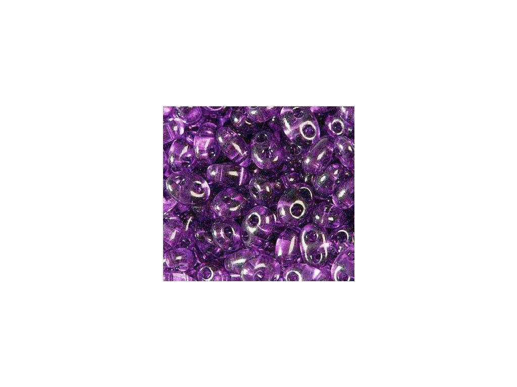 Korálky PRECIOSA Twin™ - tmavě fialové transparentní B2002