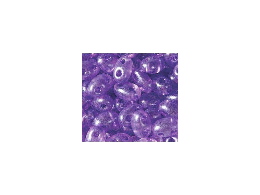 Korálky PRECIOSA Twin™ - matná fialová 08328