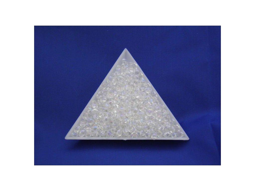 Korálky PRECIOSA Twin™ - krystal s AB listrem 58205