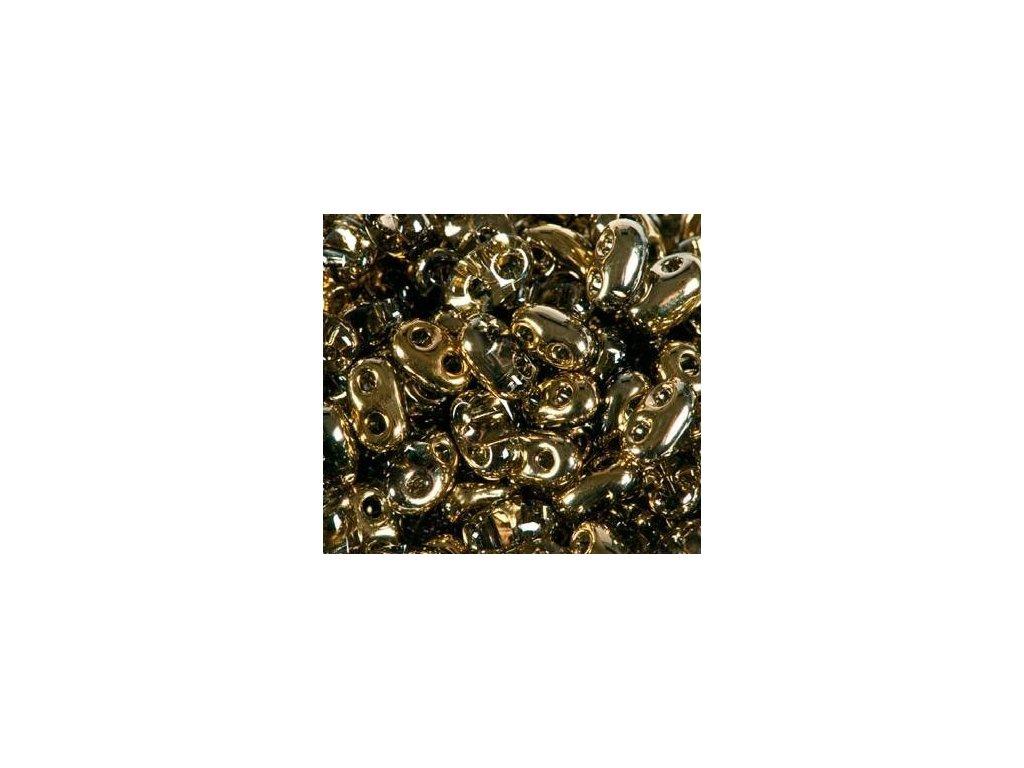 Korálky PRECIOSA Twin™ - krystal se zlatým pokovem 0005m