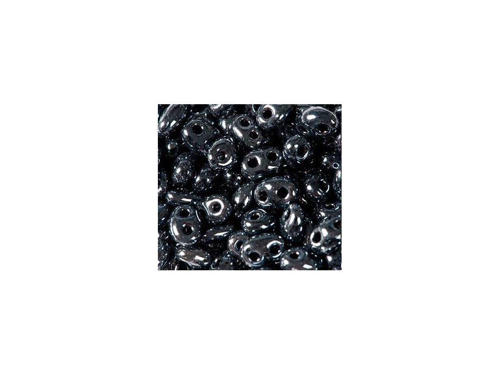 Korálky PRECIOSA Twin™ - hematit 49102