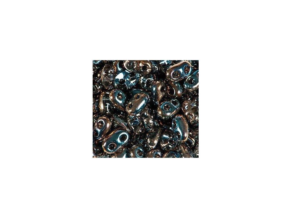 Korálky PRECIOSA Twin™ - krystal s dekorem 20116