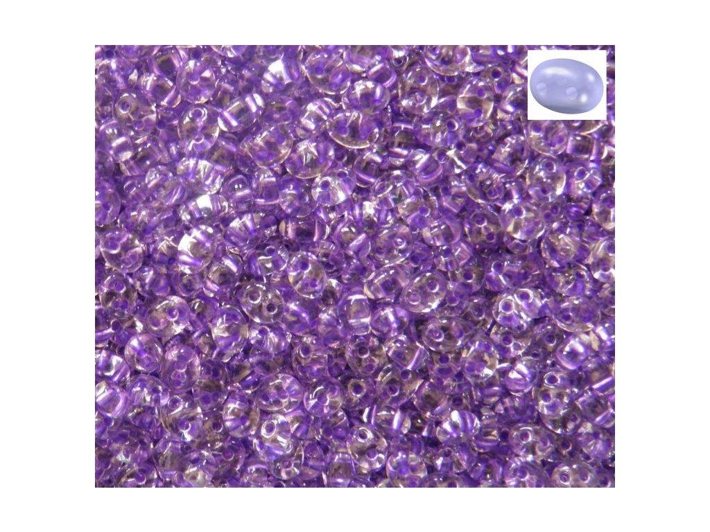 Korálky PRECIOSA Twin™ - krystal s fialovým průtahem 38928