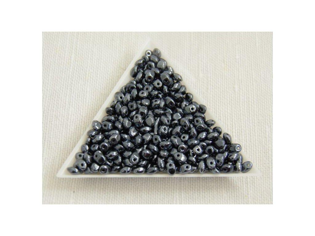 Korálky mačkané Solo - 23980/21402 hematit