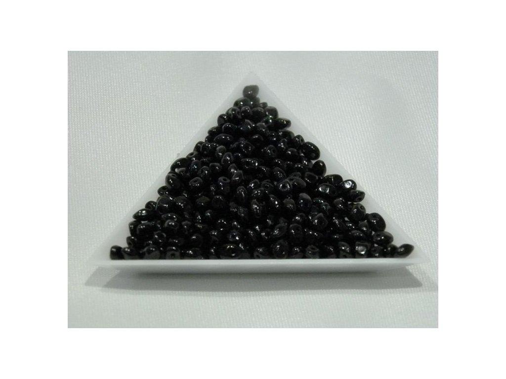 Korálky mačkané Solo - 23980 černé