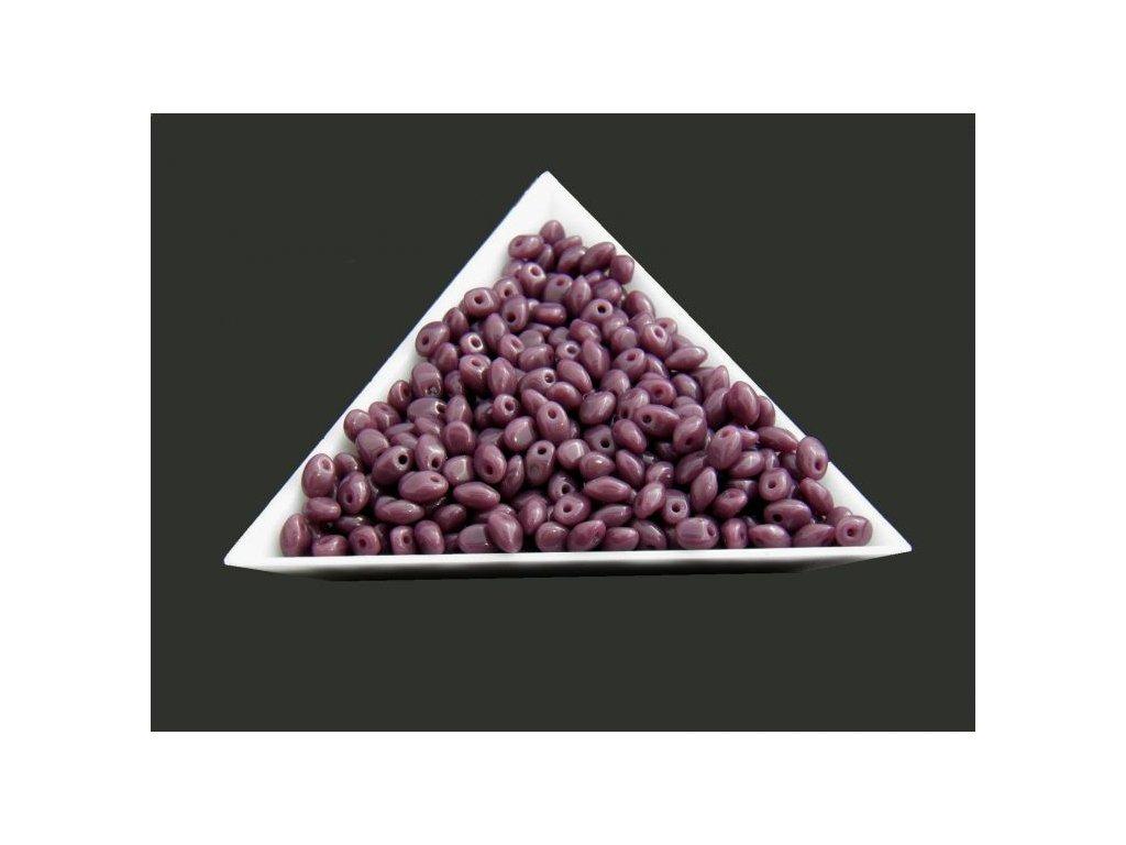 Korálky mačkané Solo - 23060 tmavě fialové