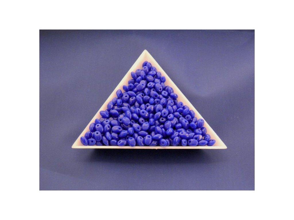 Korálky mačkané Solo - modré 33050