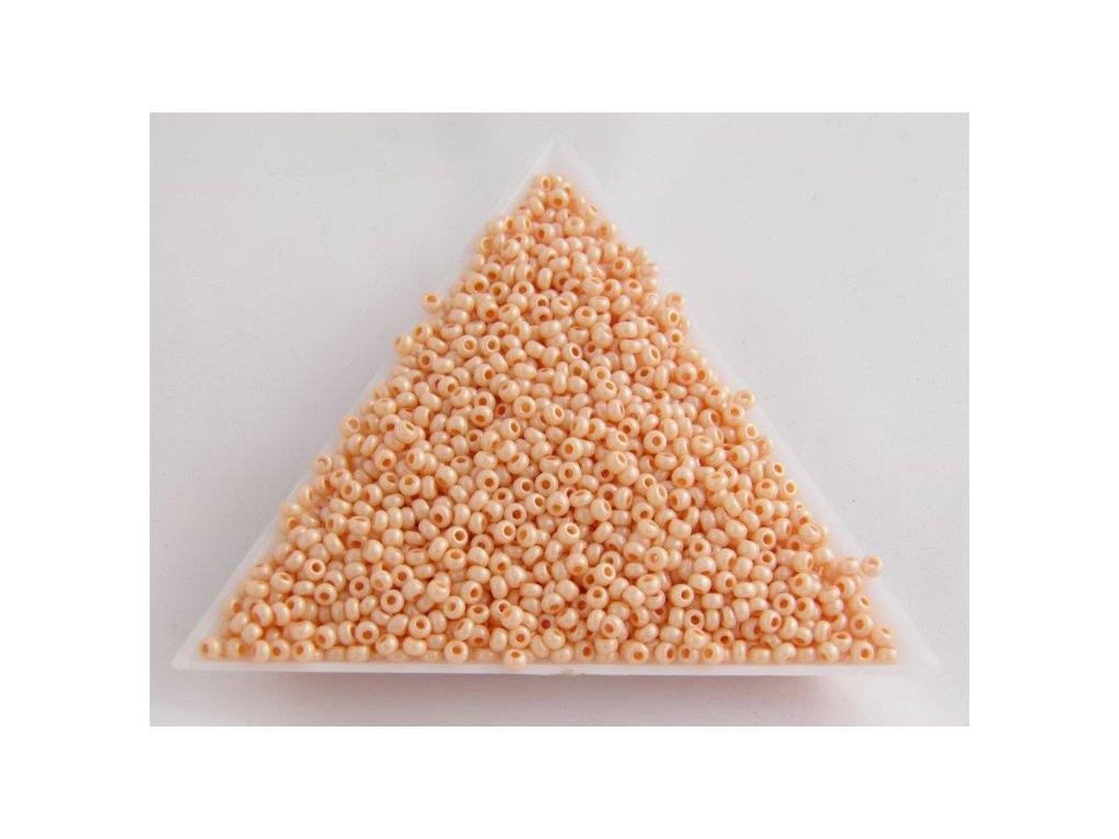 Korálky - rokajlové perličky béžový vosk 46387 - 10/0